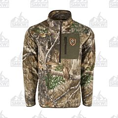 Drake Storm Front Fleece Midweight 4 Way Stretch 1/4 Zip Realtree Edge