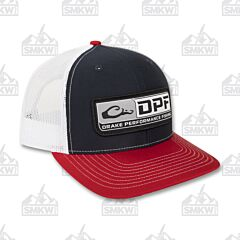 Drake DPF 5- Panel Mesh Back Cap Navy and Red