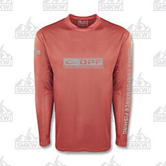Drake Long Sleeve Mesh Fishing Shirt Faded Rose