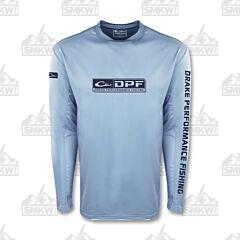 Drake Long Sleeve Mesh Fishing Shirt Light Blue