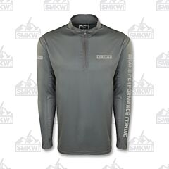 Drake Arched Mesh Back Quarter Zip Smoked Pearl