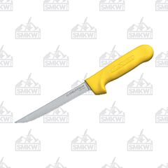 "Dexter Sani-Safe Narrow Boning Knife with Yellow Polypropylene Handles and Stainless Steel 6"" Boning Plain Edge Blades Model S13NY-PCP"