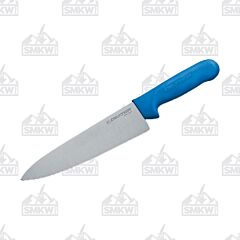 "Dexter Russell Sani-Safe Cook's Knife with Blue Polypropylene Handles and Stainless Steel 8"" Plain Edge Blades Model S145 10C PCP"