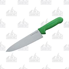 "Dexter Russell Sani-Safe Cook's Knife with Green Polypropylene Handles and Stainless Steel 8"" Plain Edge Blades Model S145 10G PCP"