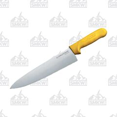 "Dexter Russell Sani-Safe Cook's Knife with Yellow Polypropylene Handles and Stainless Steel 8"" Plain Edge Blades Model S145 100Y PCP"
