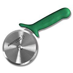 """Dexter Russell 4"""" Sani-Safe Green Pizza Cutter"""