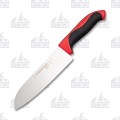 "Dexter Russell Red 7"" Santoku Knife High Carbon Steel Blade Polypropylene Handle"