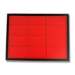 "Hardboard Display with Red Insert 16-1/4"" x 12"" x 1"""