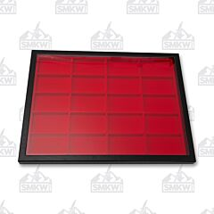 "16"" x 12"" Twenty Section Hardboard Display Red"