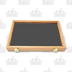 "Solid Oak Display Case with Black Velvet Inserts (18"" x 12"" x 2"")"