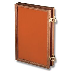 "Solid Oak Display Case with Hunter Orange Velvet Inserts (18"" x 12"" x 2"")"
