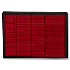 "Hardboard Display with Red Insert 20-1/4"" x 14-1/4"" x 2"""
