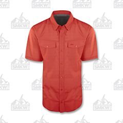 Drake Traveler's Check Shirt Red