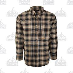 Drake Navy and Tan Plaid Autumn Brushed Twill Shirt