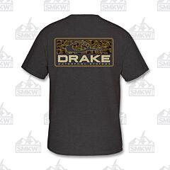 Drake Old School Bar Shirt Charcoal Heather