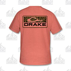 Drake Old School Bar Shirt Salmon Heather