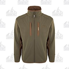 Drake Windproof Tech Jacket Olive and Brown