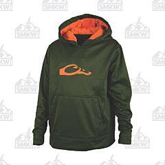 Drake Performance Hoodie Green and Orange