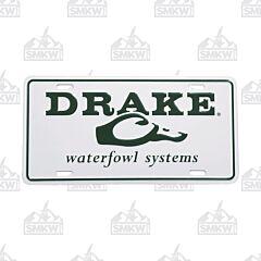 Drake Logo License Plate White and Green