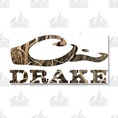 Drake Logo Window Decal Mossy Oak Grass Habitat