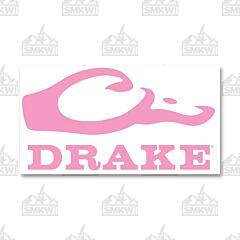 Drake Logo Window Decal Pink