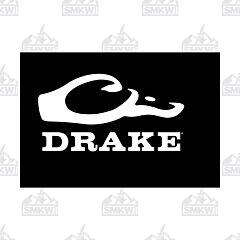 Drake Logo Window Decal White