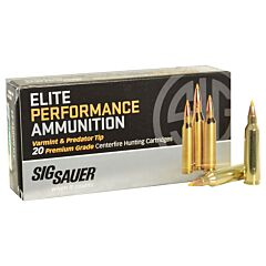 Sig Sauer Hunting 22-250 Remington 40 Grain Tipped Hollow Point 20 Rounds