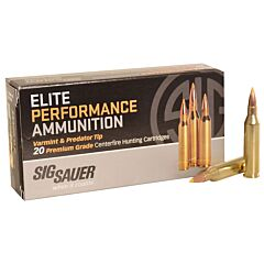 Sig Sauer Hunting 243 Winchester 55 Grain Tipped Hollow Point 20 Rounds