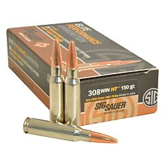Sig Sauer Elite Performance 308 Winchester 150 Grain Solid Copper Lead Free Expanding 20 Rounds