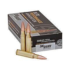 Sig Sauer Elite Performance 308 Winchester 168 Grain Open Tip Match 20 Rounds