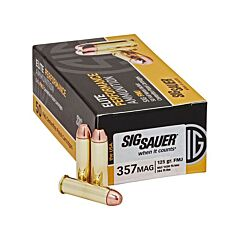 Sig Sauer Elite Performance 357 Magnum 125 Grain Full Metal Jacket 50 Rounds