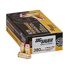 Sig Sauer Elite Performance 380 ACP 100 Grain Full Metal Jacket 50 Rounds