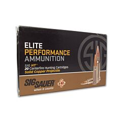 Sig Sauer Elite Performance 300 Winchester Magnum 165 Grain Solid Copper Lead Free Expanding 20 Rounds