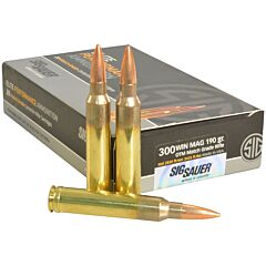 Sig Sauer Elite Performance 300 Winchester Magnum 190 Grain Open Tip Match 20 Rounds