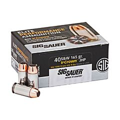 Sig Sauer Elite Performance 40 S&W 165 Grain Jacketed Hollow Point 20 Rounds