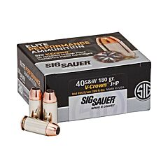 Sig Sauer Elite Performance 40 S&W 180 Grain V-Crown Jacketed Hollow Point 20 Rounds
