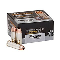 Sig Sauer Elite Performance 44 Remington Magnum V-Crown Jacketed Hollow Point 20 Rounds