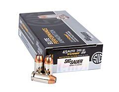 Sig Sauer Elite V-Crown Ammo 45 Auto 200 Grain FMJ 50 Rounds