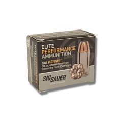 Sig Sauer Elite Performance 9mm Luger 115 Grain V-Crown Jacketed Hollow Point 20 Rounds