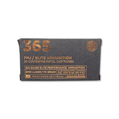 Sig Sauer 365 Elite Performance 9mm Luger 115 Grain Full Metal Jacket 50 Rounds