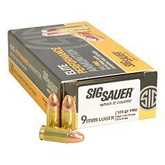 Sig Sauer Elite Performance Ball 9mm Luger 124 Grain Full Metal Jacket 50 Rounds