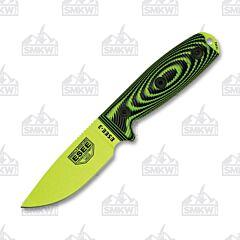 ESEE 3 Venom Green Blade 3D Handles