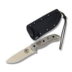 ESEE 5 Desert Tan Blade Tan Handle Black Sheath