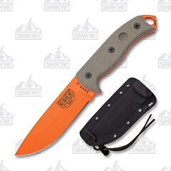 ESEE 5POG Orange Blade Tan Micarta Handle Black Sheath