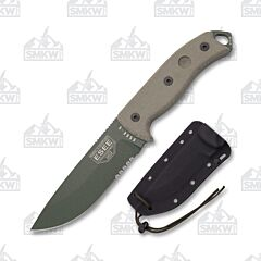 ESEE 5S OD Olive Drab Blade Tan Micarta Handles Black Kydex Sheath