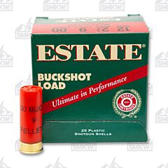 "Estate Buckshot Load 12 Gauge 2.75"" 9 Pellet 00 Buckshot 25 Shells"