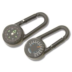 Explorer Small Carabiner Compass and Thermometer