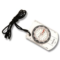 Explorer Clear Baseplate Compass with Black Cord Model EXP25
