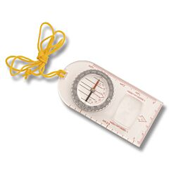 Explorer Clear Baseplate Compass with Yellow Cord