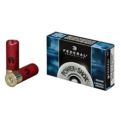 "Federal Power-Shok 12 Gage 2.75"" 9 Pellets 00 Buck Shot 5 Rounds"
